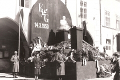 Main square, 1953, mourning the death of President Klement Gottwald on the main square (March 1953) - 2