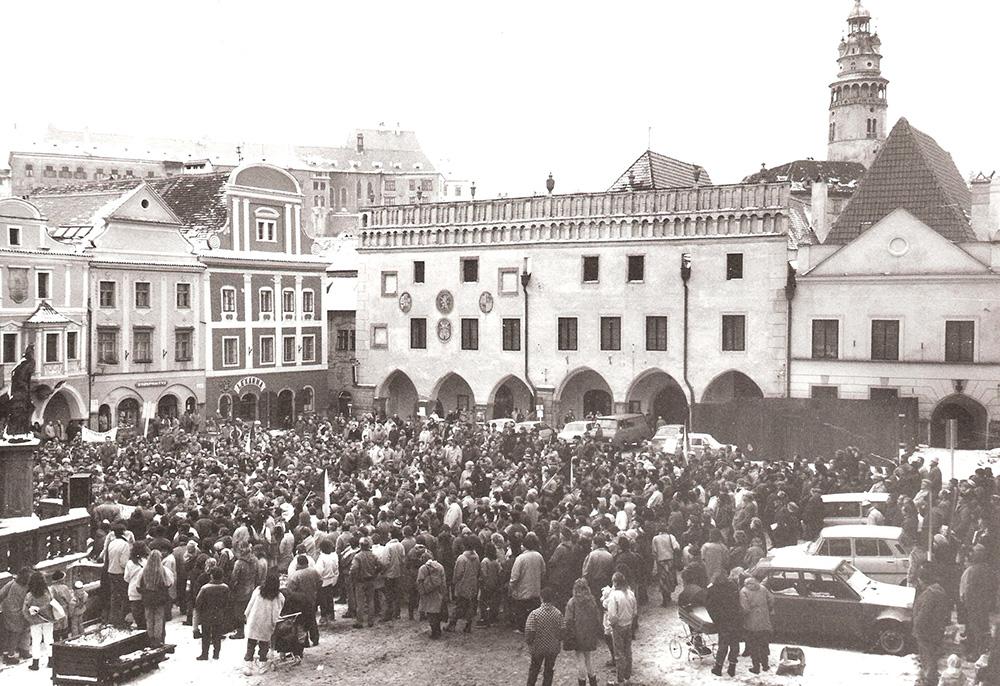Main square_1989_one-hour general strike, November 27, 1989
